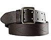 Ремень мужской  кожаный -партупея  армейский   цвет  коричневый   пряжка - латунь Украина, фото 3