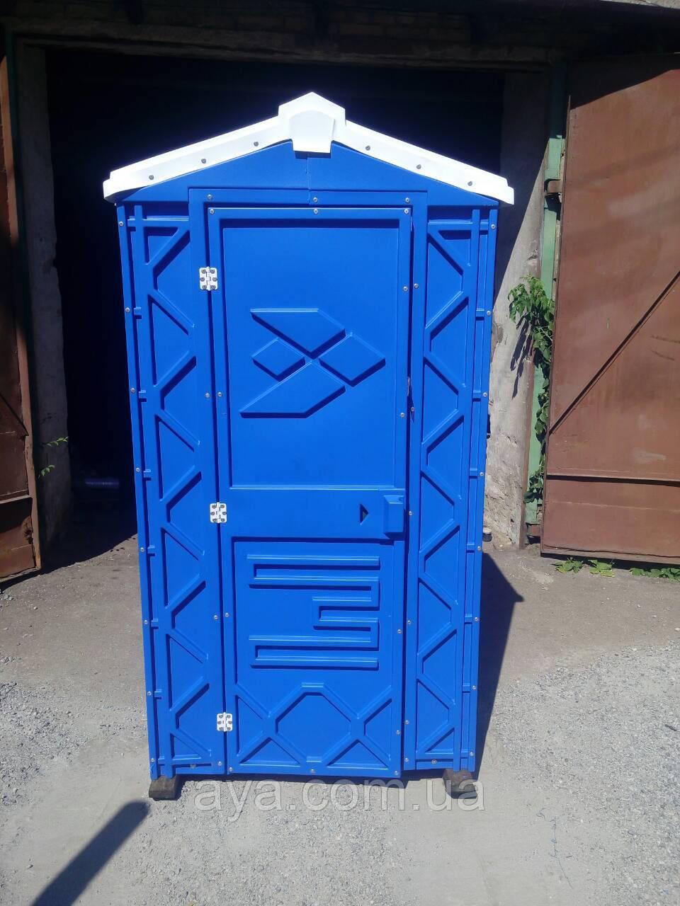 Передвижная туалетная кабина биотуалет синий