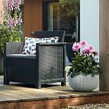 Комплект садовой мебели Allibert Emma 3 Seater Sofa Set Smooth Arms With Storage Table, фото 10