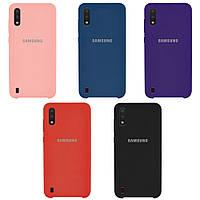 Чехол Silicone case для Samsung Galaxy A01 2020 A015 (Разные цвета)
