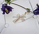 Декоративный серебряный крестик Кипарис, фото 4