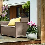 Комплект садовой мебели Allibert Emma 2 Seater Sofa Set Smooth Arms With Classic Table, фото 5