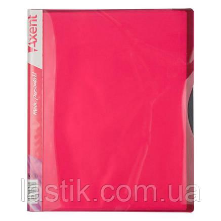 Дисплей-книга, 20 файлів, А4. (колір рожевий), фото 2