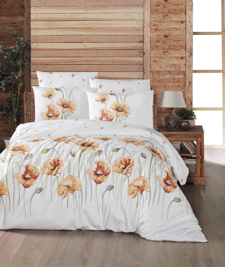 Комплект постельного белья First Choice Ранфорс 200x220 Bozca Gold