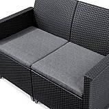 Комплект садовой мебели Allibert Emma 2 Seater Sofa Set Smooth Arms With Classic Table, фото 7