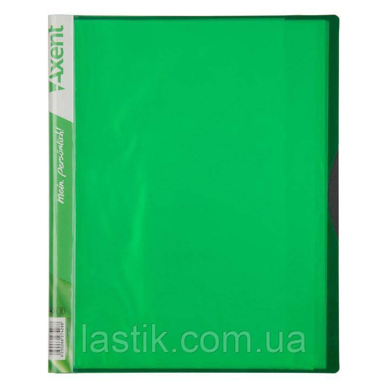 Дисплей-книга, 20 файлів, А4 (колір зелений)
