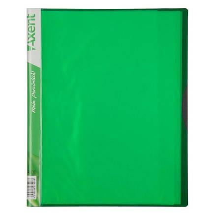 Дисплей-книга, 20 файлів, А4 (колір зелений), фото 2