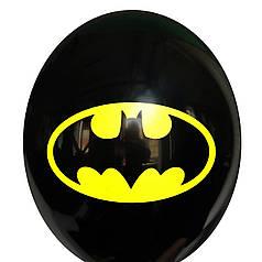 "0327 Шар 12"" (30 см) Бэтмен эмблема на черном (Китай)"