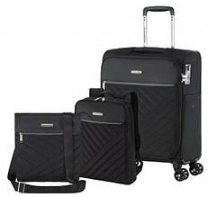 Комплект валізу сумка рюкзак Travelite Jade S 4 колеса, чорний