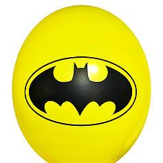 "0326 Шар 12"" (30 см) Бэтмен эмблема на желтом (Китай)"