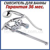 Смеситель для ванной Q-tap Mix CRM 140K латунный настенный с душем