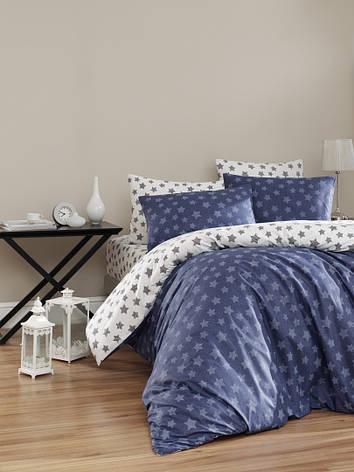 Комплект постельного белья First Choice Ранфорс 200x220 Light Lacivert, фото 2