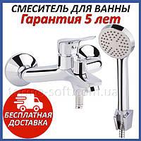 Смеситель для ванной Q-tap LoftCRM006 латунный настенный с душем