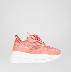"""Кроссовки Versace Chain Reaction 2 Sneakers """"Розовые"""""""