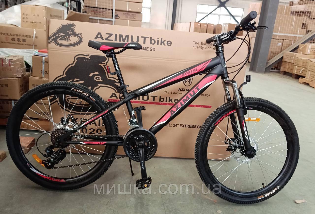 """Велосипед горный Azimut Extreme 26"""" GFRD, черный, рама 14"""""""