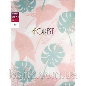 Дисплей-книга 20 файлів, A4 обкладинка 3D пластик (рожевий), фото 2