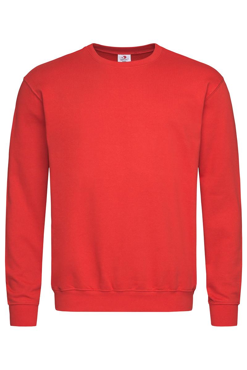 Свитшот мужской красный мужской/женский Stedman - SRECТ4000