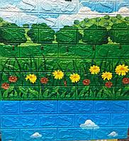 Самоклеющиеся 3D панели (детские) декоративные обои  для детской комнаты Sticker Wall природа 700x770x6мм