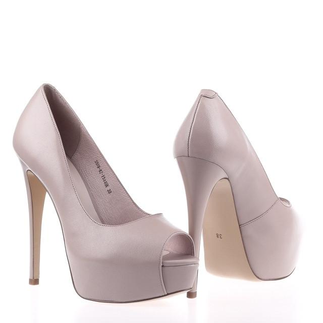 Жіночі туфлі на високій шпильці Fabio Monelli S509-62-Y544HK PINK KOGA ВЕСНА 2020 /// beige