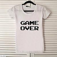 Женская футболка с надписью Game over