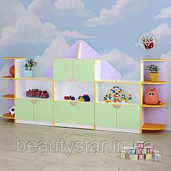 Детская стенка для игрушек «Домик»