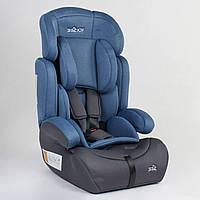 Автокресло универсальное для ребенка JOY 15416 Синий с серым, группа 1/2/3, 9-36 кг