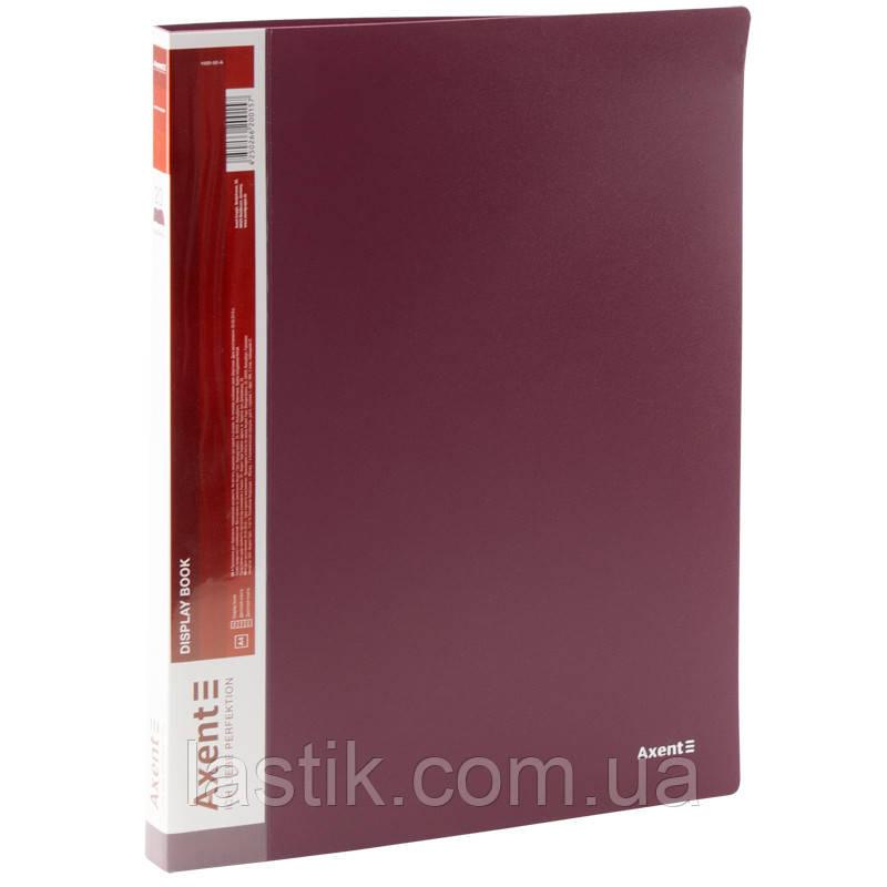 Дисплей-книга 20 файлів. А-4 (колір бордовий)