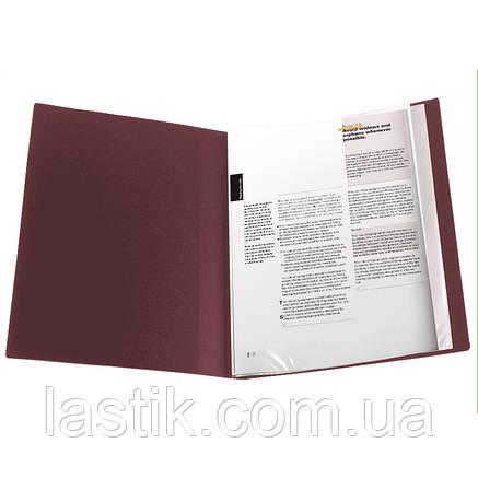 Дисплей-книга 20 файлів. А-4 (колір бордовий), фото 2