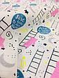 Муслин (хлопковая ткань) мишки и лестница (ширина 1,2 м), фото 3