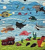 Самоклеющиеся 3D панели (детские) декоративные обои  для детской комнаты Sticker Wall море 700x770x6мм