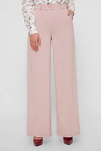 Деловые женские брюки прямые бежевого цвета