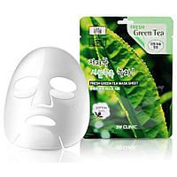 Тканевая маска для лица с экстрактом зеленого чая 3W Clinic Fresh Green Tea Mask Sheet