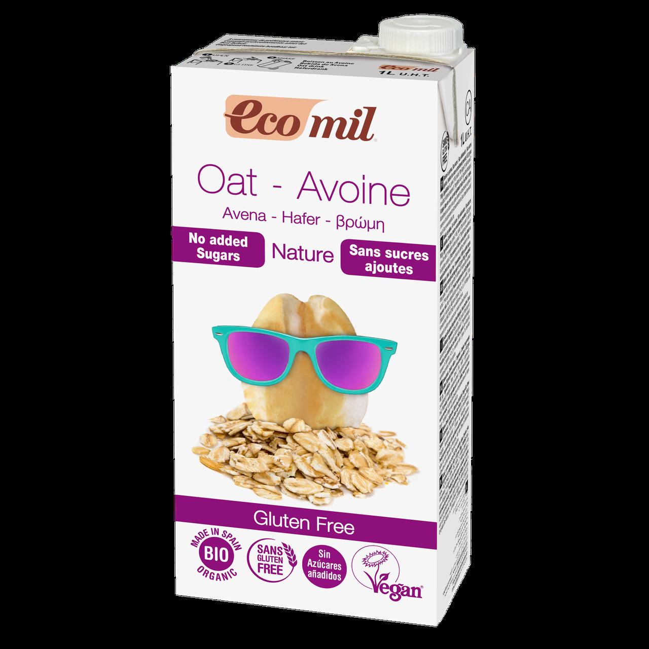 Вівсяне Молоко без цукру і глютену EcoMil 1 л