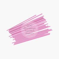 Палички для кейк-попсов - Ніжно-рожеві - 15 см, 50 шт