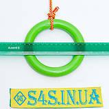 Кільця гімнастичні дитячі підвісні кільця для шведської стінки ПЛАСТИКОВІ салатові, фото 2