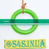 Кольца гимнастические детские подвесные кольца для шведской стенки ПЛАСТИКОВЫЕ салатовые, фото 2