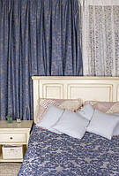 Комплект штор в стиле Модерн Lace 17 Синий, 275*145 см (2 шт.),(MG-MS-300603)