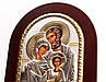 Святое Семейство 20х25см греческая серебряная икона, фото 6