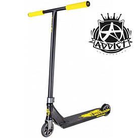 Самокат Addict Defender V2 Complete Scooter 2020 для екстремального катання жовтий/чорний