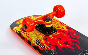 Скейт для трюков - SK8 - BEAUTX скейтборд трюковой Огонь, фото 2