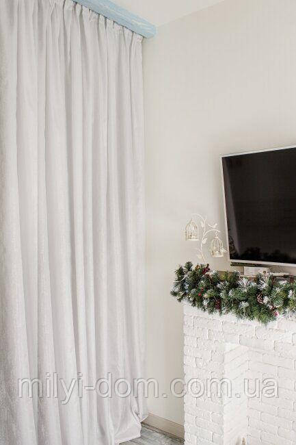 Комплект штор в стиле Модерн Lavazzo 01 Белый, 275*145 см (2 шт.),(MG-MS-300636)