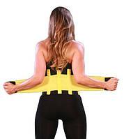 Пояс для схуднення Hot Shapers Power Belt Чорний з жовтим р-р S