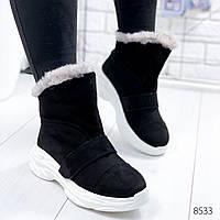 Ботинки женские Sirius черный 8533 ЗИМА, фото 1