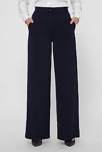 Деловые женские брюки прямые темно-синие