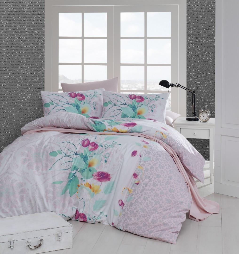 Комплект постельного белья First Choice Ранфорс 200x220 rihanna somon