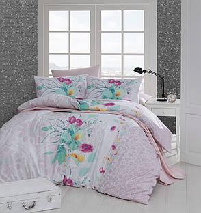 Комплект постельного белья First Choice Ранфорс 200x220 rihanna somon, фото 2