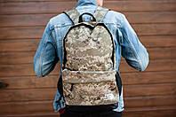 Рюкзак TNF среднего размера на молнии камуфляжный