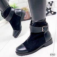 Ботинки женские Helena черные 8760 зима, фото 1