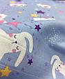 Муслін (бавовняна тканина) зайчики сплять (ширина 1,2 м), фото 3