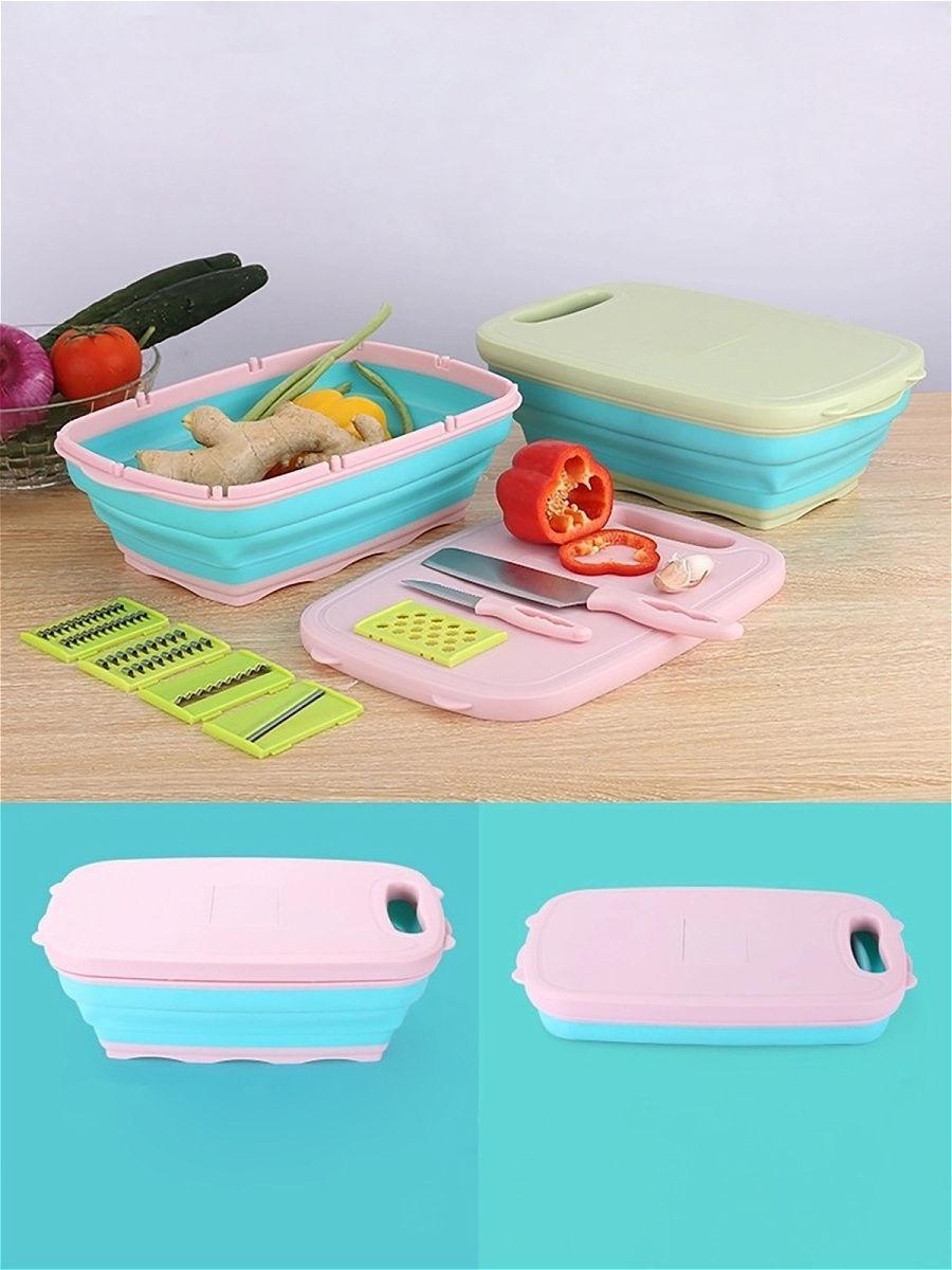 Кухонный набор 9 в 1: Овощерезка, терка, разделочная доска, нож, дуршлаг